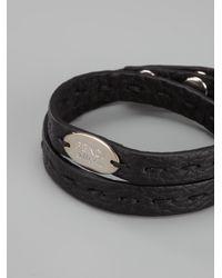 Fendi - Black Double Wrap Bracelet for Men - Lyst