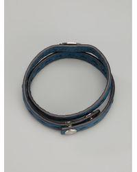 Fendi Blue Double Wrap Bracelet for men