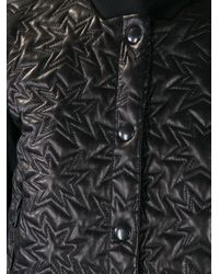 Mauro Grifoni Black Quilted Leather Jacket