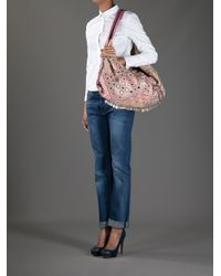 Simone Camille Pink Moon Patterned Bag