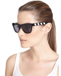 Westward Leaning - Black Love Thy Neighbor Beaded Acetate Square Sunglasses - Lyst