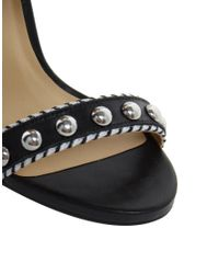 River Island Black Studded Block Heel Sandals