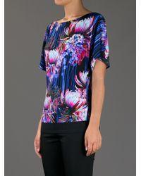 Roberto Cavalli - Blue Flower Print Shirt - Lyst