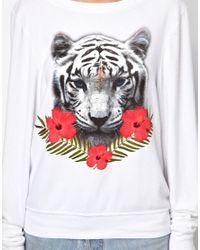 ASOS White Wildfox Tropical Tiger Sweater