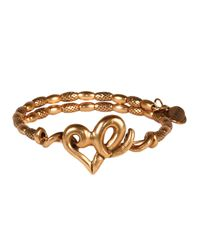 ALEX AND ANI | Metallic Vintage 66 Heart Bangle | Lyst