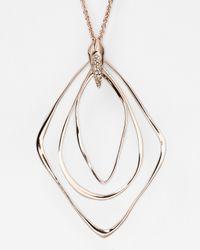 Alexis Bittar Metallic Liquid Rose Gold Orbiting Pendant Necklace 32