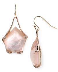 Alexis Bittar - Pink Liquid Rose Gold Suspended Molten Earrings - Lyst
