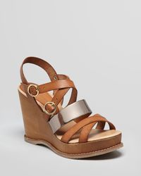 Andre Assous Metallic Wedge Sandals Jenny Wooden