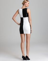 Bailey 44 Black Dress Dig Out Color Block Sequin
