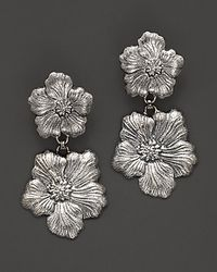 Buccellati - Metallic Blossom 1 Small 1 Medium Flower Pendant Earrings - Lyst