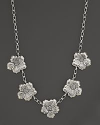 Buccellati Metallic Blossom 5 Medium Flower Necklace with Gold Accents 21