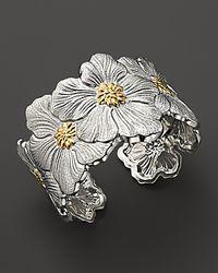 Buccellati   Metallic Blossom Cuff Bracelet with Gold Accents   Lyst