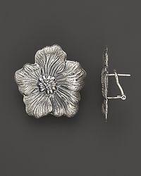 "Buccellati | Metallic ""Blossom"" Medium Flower Earrings | Lyst"
