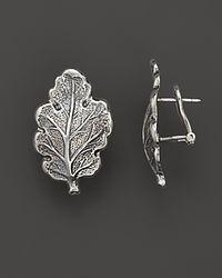 Buccellati Metallic Oak 1 Small Leaf Earrings