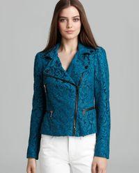 Burberry Blue Jacket Peacock Lace Moto