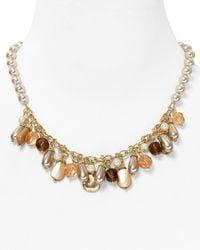 Carolee Metallic Beaded Necklace 16