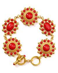 Carolee Red Linked Coral Bracelet