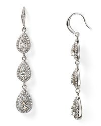 Carolee | Metallic Triple Drop Linear Earrings | Lyst