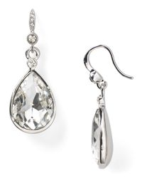 Carolee - Metallic Faceted Pear Drop Earrings - Lyst