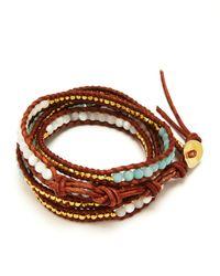 Chan Luu - Brown Five Wrap Leather Graduated Bracelet - Lyst