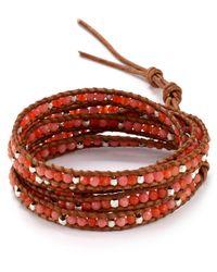 Chan Luu - Orange Five Wrap Leather Neon Bracelet - Lyst