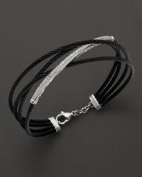 "Charriol | Metallic ""celtic Noir"" Black And Grey Diamond Bracelet | Lyst"