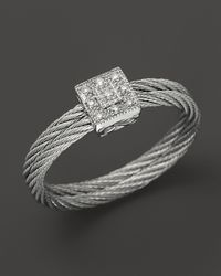 Charriol - Gray Classique Collection Nautical Cable Ring, .04 Ct. T.W. - Lyst