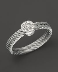 Charriol Metallic Nautical Cable Ring 05 Ct Tw