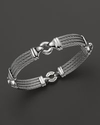 Charriol | Gray Gentlemens Collection Nautical Cable Station Bracelet for Men | Lyst
