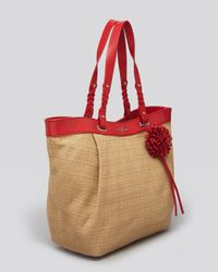 Cole Haan Red Tote Bedford East West