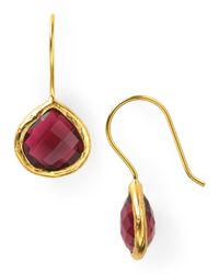 Coralia Leets | Purple Cranberry Mini French Wire Earrings | Lyst