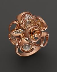 Di Modolo - Pink Rock Crystal and Diamond Triadra Ring - Lyst