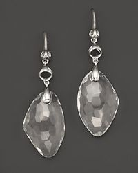 Di Modolo | Metallic Sterling Silver and Rock Crystal Triadra Icon Drop Earrings | Lyst