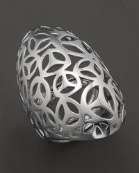Di Modolo - Metallic Rhodium Plated Open Weave Full Finger Ring - Lyst