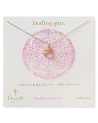 Dogeared - Red Healing Gem Briolette Necklace with Cherry Quartz Pendant 18 - Lyst
