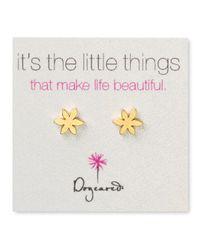 Dogeared | Metallic Star Flower Earrings | Lyst
