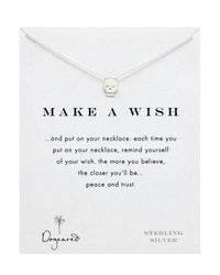 Dogeared | Metallic Sterling Silver Make A Wish Reminder Skull Necklace 18 | Lyst