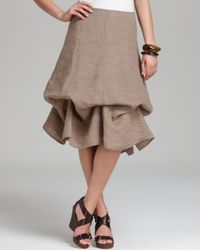 Eileen Fisher Brown Aline Skirt with Ties