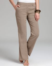 Eileen Fisher Gray Straight Trousers with Yoke