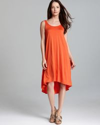 Eileen Fisher Black Scoop Neck Flare Dress