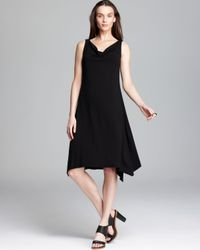 Eileen Fisher Black Cowl Neck Dress
