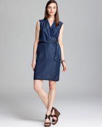 Elie Tahari Blue Halley Dress