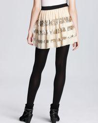 Free People Metallic Skirt Sparkle and Stripes