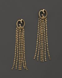 Gucci | 18k Yellow Gold Earrings with Fringe | Lyst