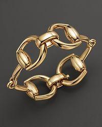 Gucci - 18k Yellow Gold Horsebit Bracelet - Lyst