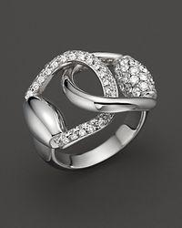Gucci - Yellow Horsebit Ring - Lyst