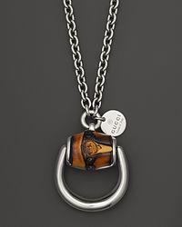 Gucci - Metallic Large Bamboo Horsebit Necklace 295 - Lyst