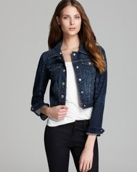 Guess Blue Crop Denim Jacket