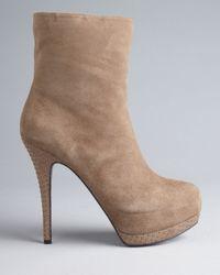 Guess Brown Platform Booties Pilina High Heel