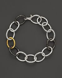 Gurhan | Yellow Pure Silver And 24k Gold Hoopla Link Bracelet | Lyst